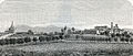 Montebello veduta del paese presa da nord-ovest xilografia di Barberis.jpg