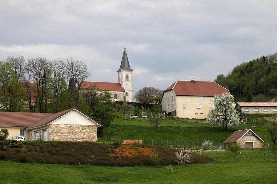Vue de Montmahoux (Doubs).