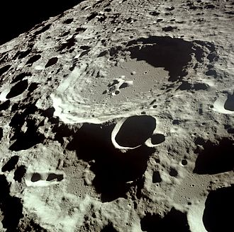 Natural science - Unmanned and manned spacecraft missions have been used to image distant locations within the Solar System, such as this Apollo 11 view of Daedalus crater on the far side of the Moon.