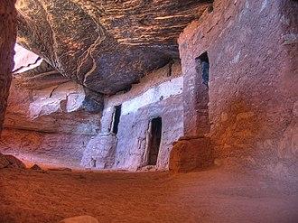 National Register of Historic Places listings in San Juan County, Utah - Image: Moon House masonry and jacal, Utah