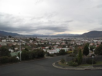 Moonah, Tasmania - Moonah, looking roughly north-east out towards the Derwent River.