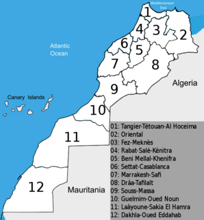 Regions of Morocco Current highest administrative division of Morocco
