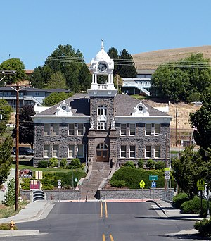 National Register of Historic Places listings in Morrow County, Oregon - Image: Morrow County Courthouse Heppner Oregon