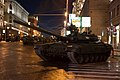 Moscow 2012 Victory Day Parade Rehearsal, Tank at night, Russia.jpg