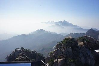 Bukhansan - Image: Mount Bukhansan seen from Shinseondae Peak