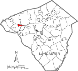 Location of Mount Joy in Lancaster County