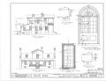 Mount Nebo House, Route 22, Milledgeville, Baldwin County, GA HABS GA,5- ,1- (sheet 3 of 4).png