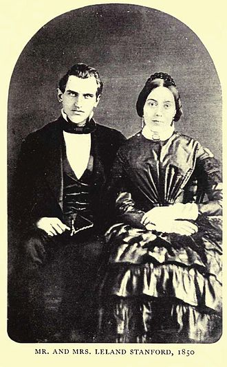 Jane Stanford - Portrait of Leland and Jane Stanford in 1850