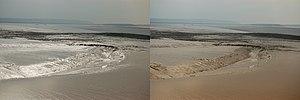 71d5607ef3 Efecto de un polarizador sobre la reflexión en el fango. En la imagen de la  izquierda, el polarizador está girado para transmitir las reflexiones.
