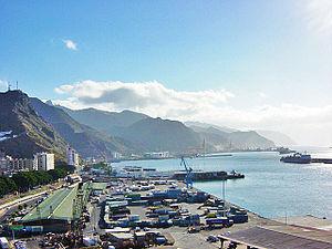 Port of Santa Cruz de Tenerife - Panoramic view of the Port of Santa Cruz de Tenerife