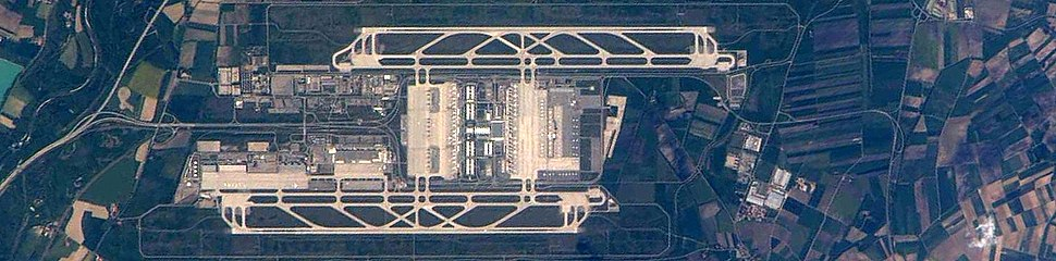 Munich Airport from the International Space Station, circa 2010