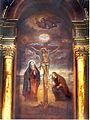 Mural del Señor de los Milagros pintado en el Santuario de Las Nazarenas en Lima (Perú).jpg