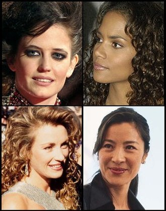 Bond girl - Clockwise from top left: Eva Green, Halle Berry, Michelle Yeoh and Jane Seymour