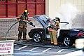 Mustang car fire at CVS on Key West Highway in North Potomac MD July 12 2012 (7575635042).jpg