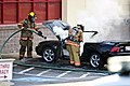 Mustang car fire at CVS on Key West Highway in North Potomac MD July 12 2012 (7575636284).jpg