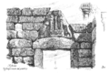 Mykene - Löwentor 1881.png
