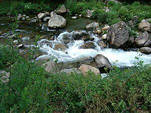 Ariège (river) - Ariège River near Ax-les-Thermes.