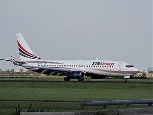 Xtra Airways - N917XA Xtra Airways Boeing 737-86J(WL), landing on Schiphol (EHAM-AMS) runway 18R pic3