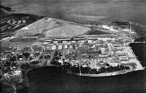 Naval Air Station Jacksonville - Aerial view of NAS Jacksonville in the mid-1940s