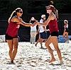 NCAA sand volleyball match at FSU, April 2013 (8666176425).jpg