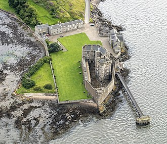 Blackness Castle - Aerial photo of Blackness Castle