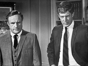 Jack Warden - Warden (left) as Mike Haines with Frank Converse as Det. Johnny Corso in ABC's N.Y.P.D. (1968)