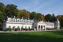 """Nałęczów, sanatorium """"Stare Łazienki"""", widok ogólny"""