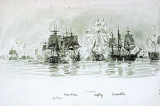 French ship Neptune (1803) - Image: Named vessels at the battle of Trafalgar