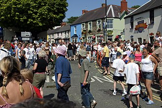 Narberth, Pembrokeshire - Visitors on carnival day