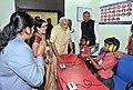 Narendra Modi interacting with specially abled children, at Saksham Education City, Jawanga, Dantewada, in Chhattisgarh on May 09, 2015. The Chief Minister of Chhattisgarh, Dr. Raman Singh is also seen (2).jpg