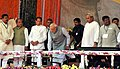 Narendra Modi unveiling the plaque to dedicate to the Nation of Rourkela Steel Plant, in Odisha. The Governor of Odisha, Shri S.C. Jamir, the Chief Minister of Odisha, Shri Naveen Patnaik (1).jpg