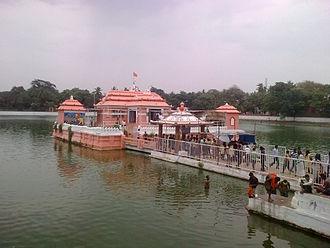 Chandan Yatra - The Narendra Tirtha tank where ceremonies of Bahara Chandana are performed