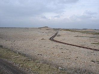 British military narrow-gauge railways - Image: Narrow gauge railway lines on Lydd firing ranges geograph.org.uk 1170799