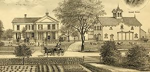 Frances Shimer - The Isaac Nash residence in Milton, New York, where Frances Wood lived for much of her youth