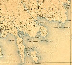 Nasketucket River - Image: Nasketucket River (USGS map, 1893)