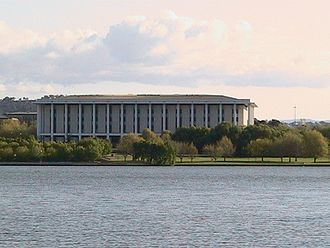 National Library of Australia - National Library of Australia as viewed from Lake Burley Griffin, Canberra