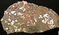 Native copper pods in garnet-pyroxene skarn (Madison Gold Skarn Deposit, Late Cretaceous, 80 Ma; west of Silver Star, Montana, USA) 8.jpg