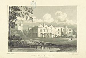Conington Castle - Connington Castle drawn in 1818.