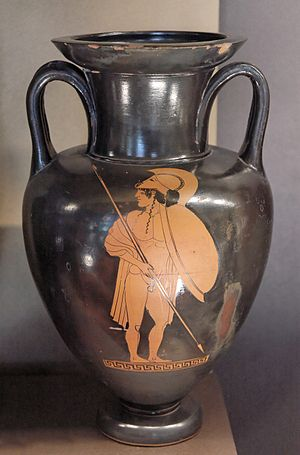 Antilochus - Antilochus on an Attic red-figure amphora ca. 470 BC from the Louvre
