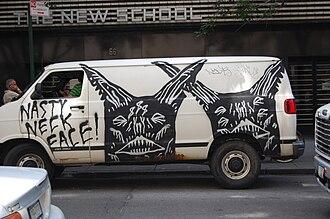 Neck Face - Neck face piece on a van