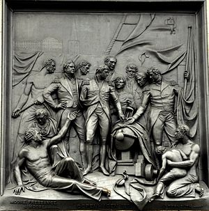 John Ternouth - Ternouth's relief of  The Battle of Copenhagen  on the pedestal of   Nelson's Column
