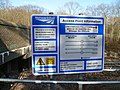 Network Rail sign, Monken Hadley Common.JPG