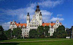 Nya rådhuset i Leipzig.