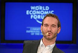Nick Vujicic at the World Economic Forum Annual Meeting, Davos, Switzerland - 20110130