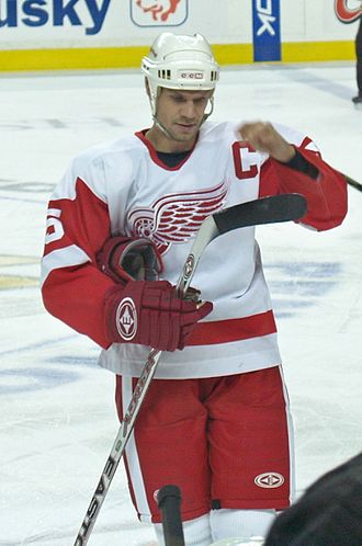 Presidents' Trophy - Nicklas Lidstrom of the Detroit Red Wings was part of the team's six Presidents' Trophy wins, two of them followed by Stanley Cups.