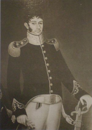 Nicolás Rodríguez Peña - Nicolás Rodríguez Peña. Oil by J. Gil de Castro. Museo Histórico Nacional, Buenos Aires