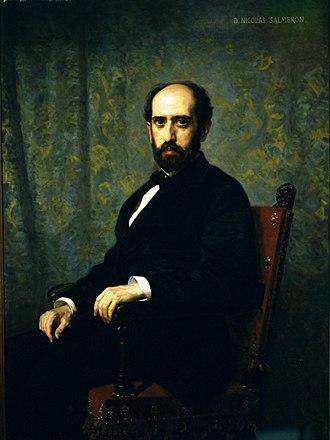 Nicolás Salmerón y Alonso - Portrait by Federico de Madrazo