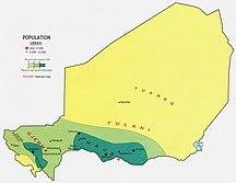 Niger (ország)-Etnikai, nyelvi, vallási megoszlás-Niger pop 1969