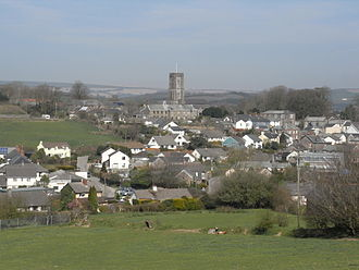 North Molton - North Molton viewed from the southwest with Exmoor in the far distance