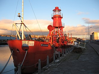 North Carr Lightship - The North Carr Lightship moored in Dundee in early 2007.